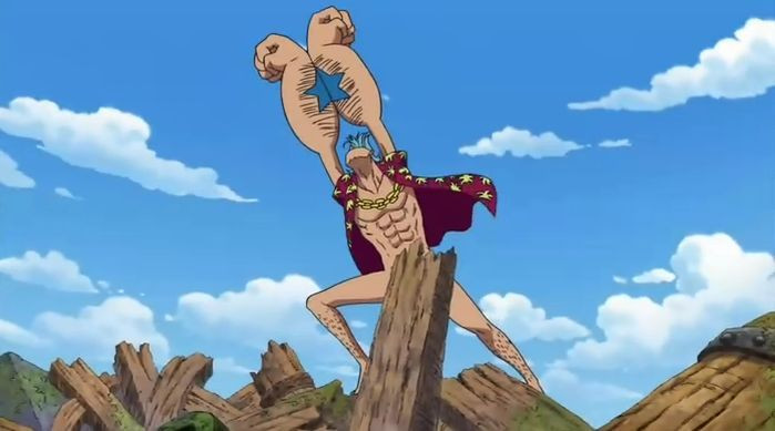 Franky Pose in Water Seven: Super!